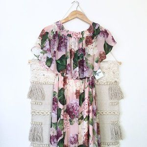 NWT Show Me Your MuMu Brynlee Hydrangea Maxi Dress